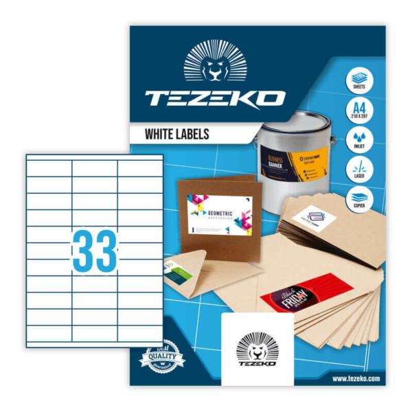 Tezeko öntapadó íves etikett címke TZ-A4-0023