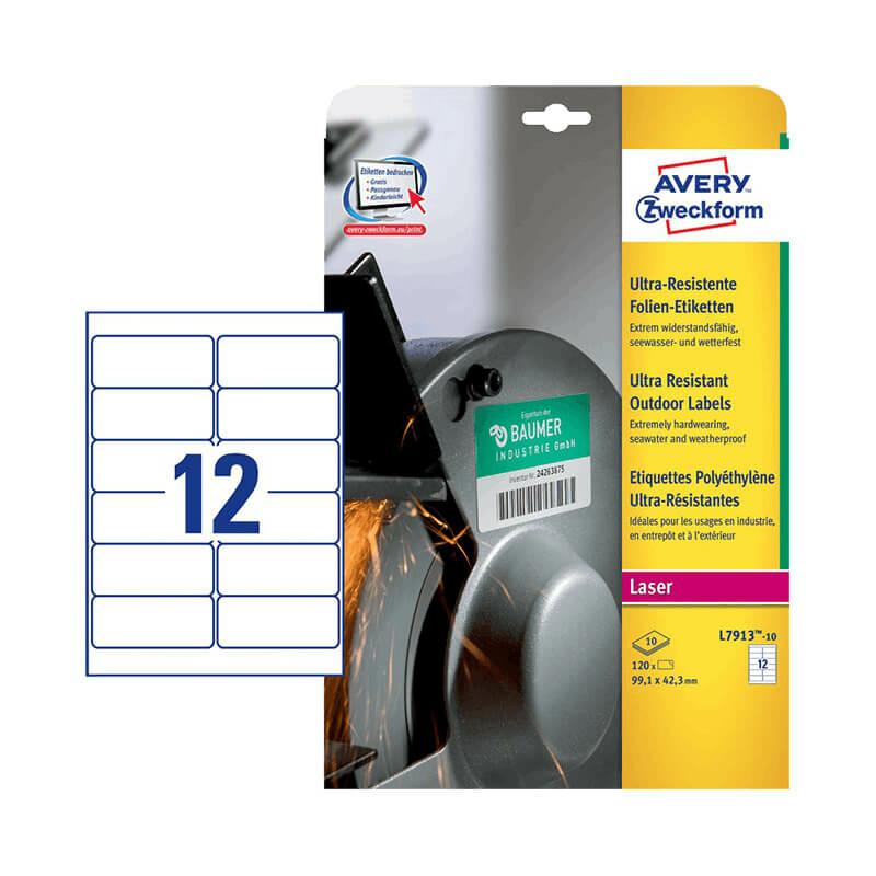 99,1*42,3 mm-es Avery Zweckform A4 íves etikett címke, fehér színű (10 ív/doboz)