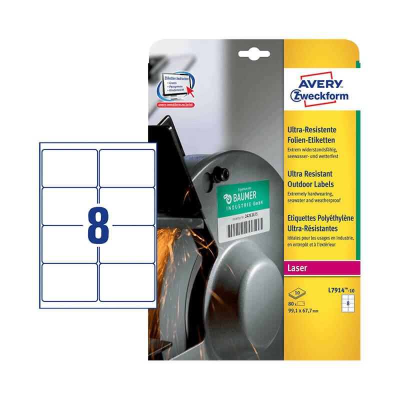 99,1*67,7 mm-es Avery Zweckform A4 íves etikett címke, fehér színű (10 ív/doboz)