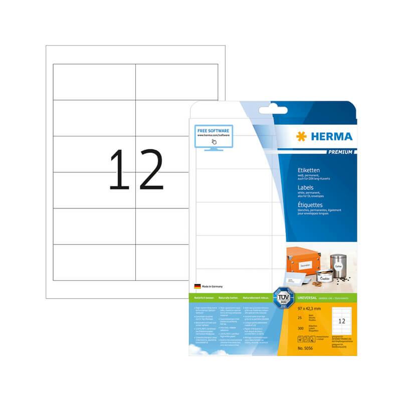99,1*67,7 mm-es Herma A4 íves etikett címke, neon piros színű (20 ív/doboz)