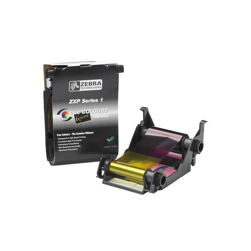 Zebra ZXP1, YMCKO festékszalag, 100 kártya/tekercs