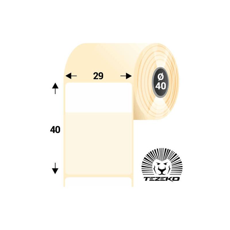 Kábeljelölő, 29 * 40 mm-es 1 pályás műanyag etikett címke, Világos színű kábelekhez (1250 címke/tekercs)