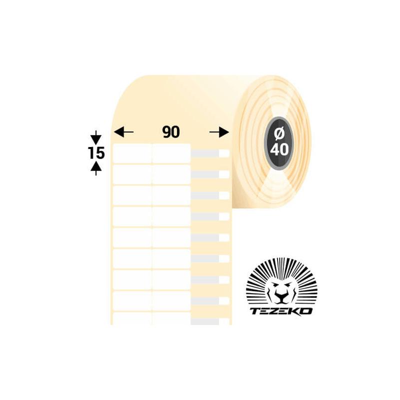 90 * 15 mm-es 1 pályás műanyag Ékszer címke (4300 címke/tekercs)