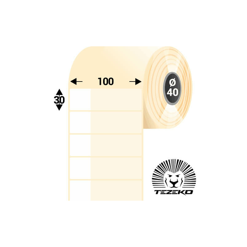 Kábeljelölő, 100 * 30 mm-es 1 pályás műanyag etikett címke (500 címke/tekercs)