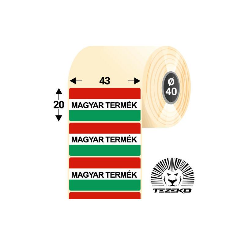Magyar Termék etikett címke, 43 * 20 mm-es (1000 db/tekercs)