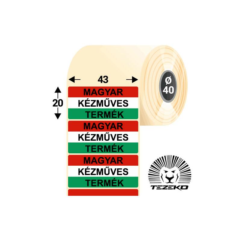 Magyar Kézműves Termék etikett címke, 43 * 20 mm-es (1000 db/tekercs)