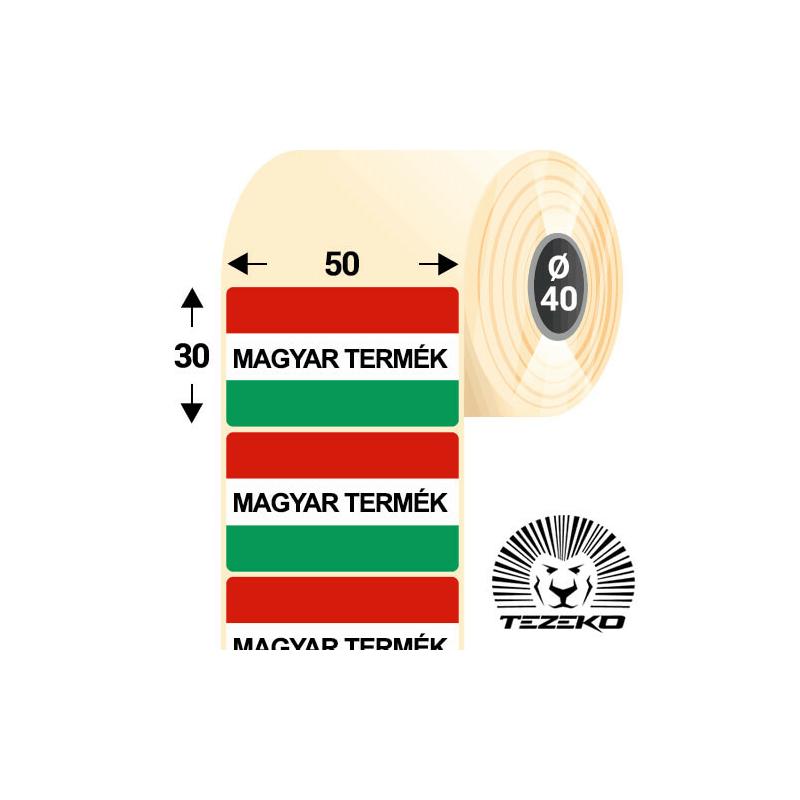 Magyar Termék etikett címke, 50 * 30 mm-es (1000 db/tekercs)