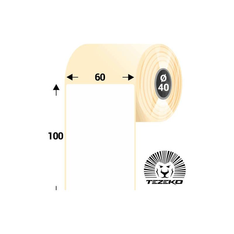 60 * 100 mm-es, 1 pályás hűtőházi direkt termál etikett címke (600 címke/tekercs)