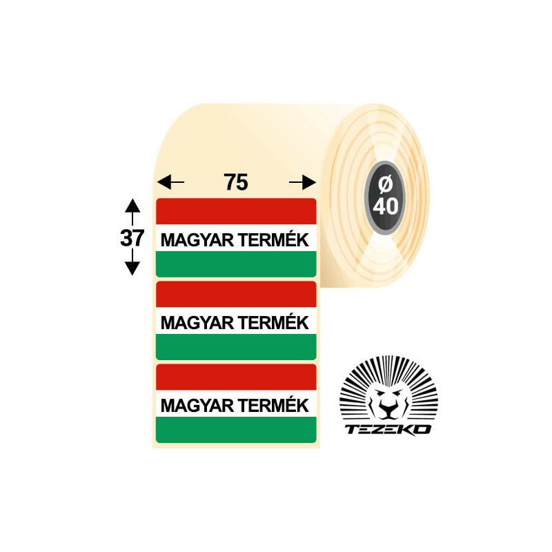 Magyar Termék etikett címke, 75 * 37 mm-es (1000 db/tekercs)