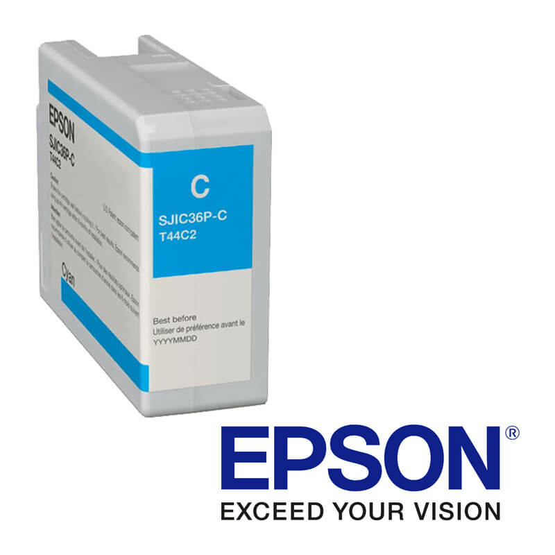 EpsonColorWorks C6000, C6500 tintapatron, Kék (Cyan)