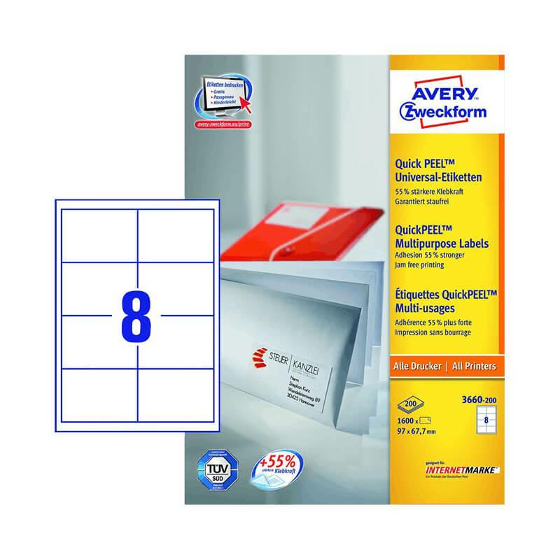 Avery Zweckform öntapadó íves etikett címke 3660-200