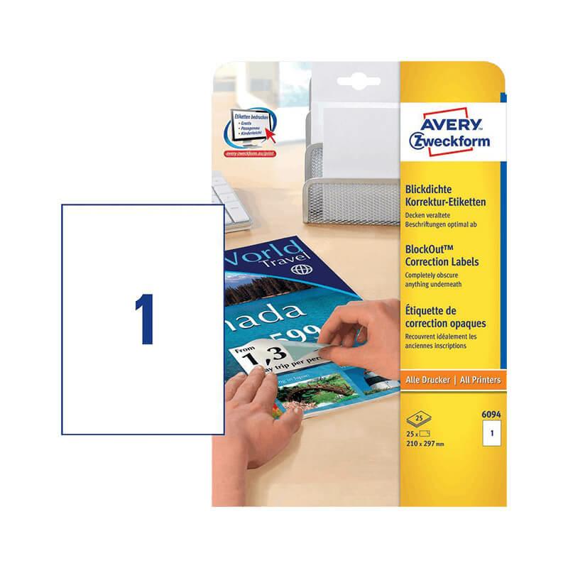 Avery Zweckform öntapadó íves etikett címke 6094
