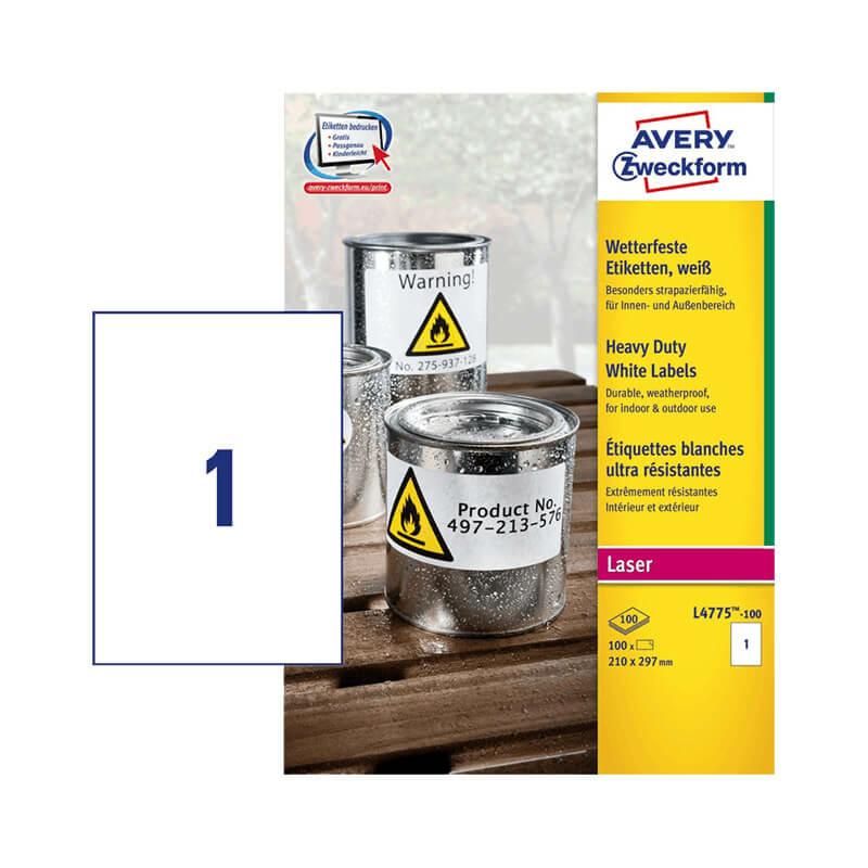 Avery Zweckform öntapadó íves etikett címke L4775-100