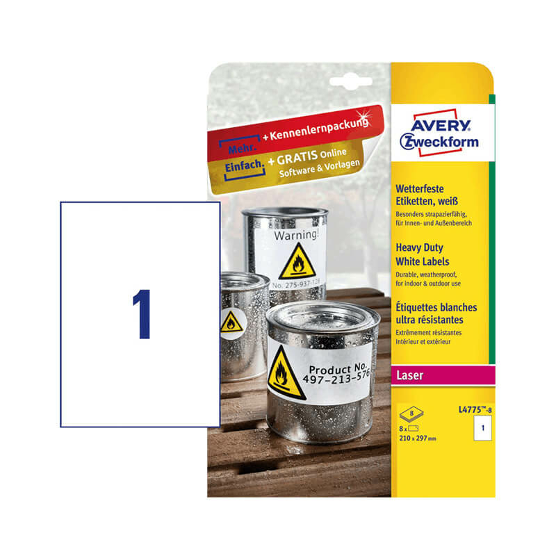 Avery Zweckform öntapadó íves etikett címke L4775-8