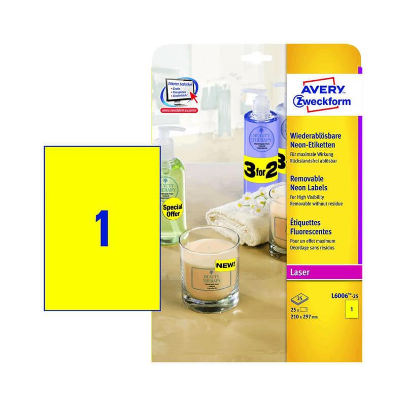 Avery Zweckform öntapadó íves etikett címke L6006-25
