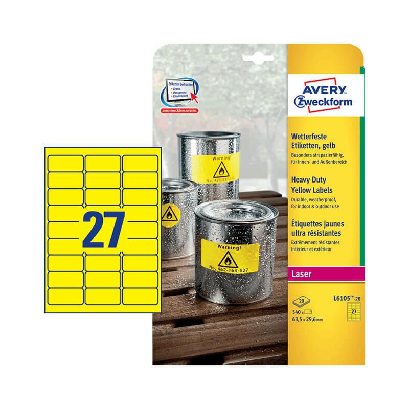 Avery Zweckform öntapadó íves etikett címke L6105-20