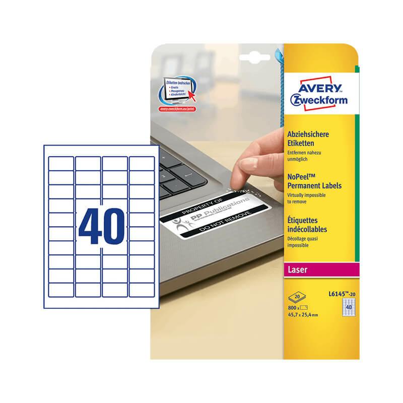 Avery Zweckform öntapadó íves etikett címke L6145-20