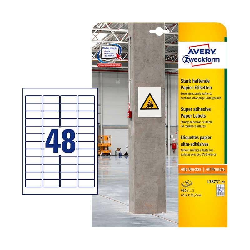 Avery Zweckform öntapadó íves etikett címke L7873-20