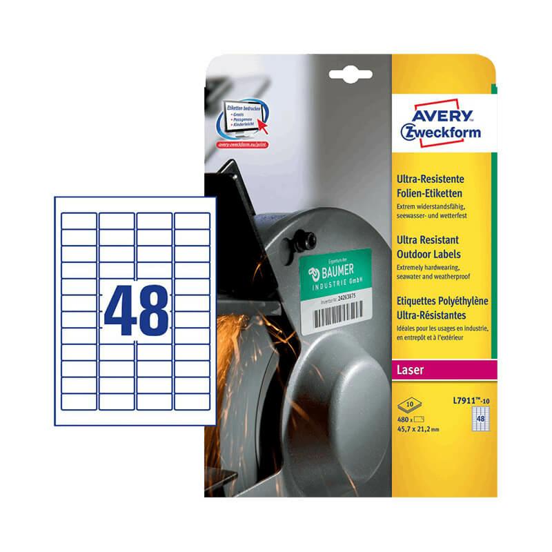 Avery Zweckform öntapadó íves etikett címke L7911-10