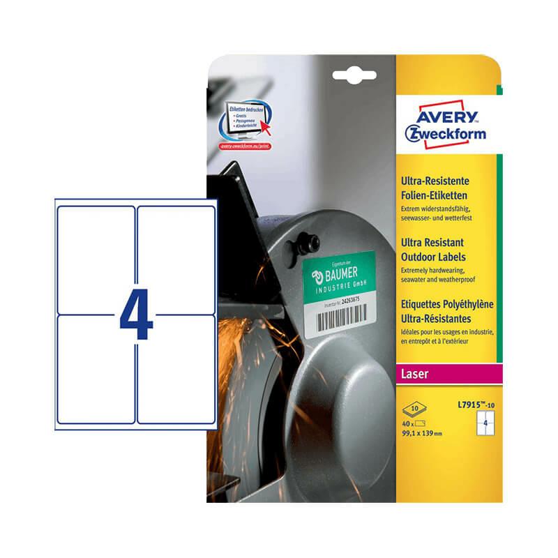 Avery Zweckform öntapadó íves etikett címke L7915-10