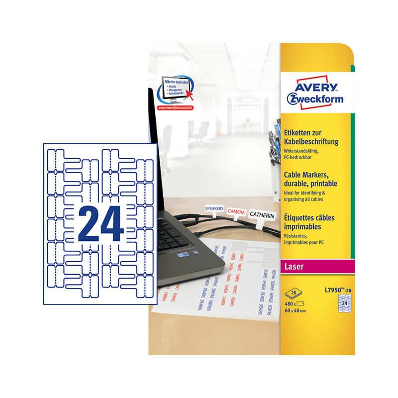 Avery Zweckform öntapadó íves etikett címke L7950-20