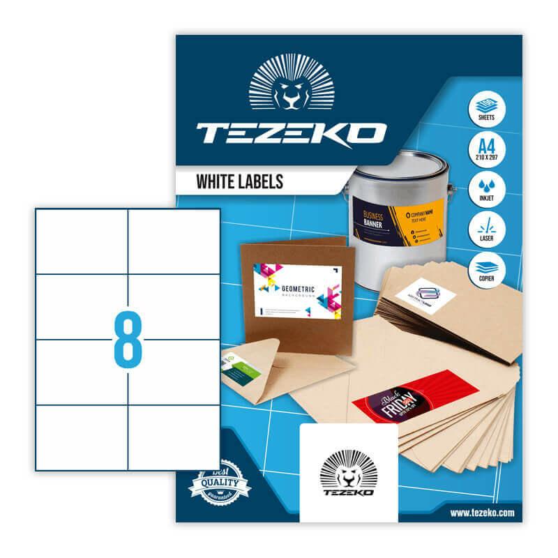 Tezeko öntapadó íves etikett címke TZ-A4-0027