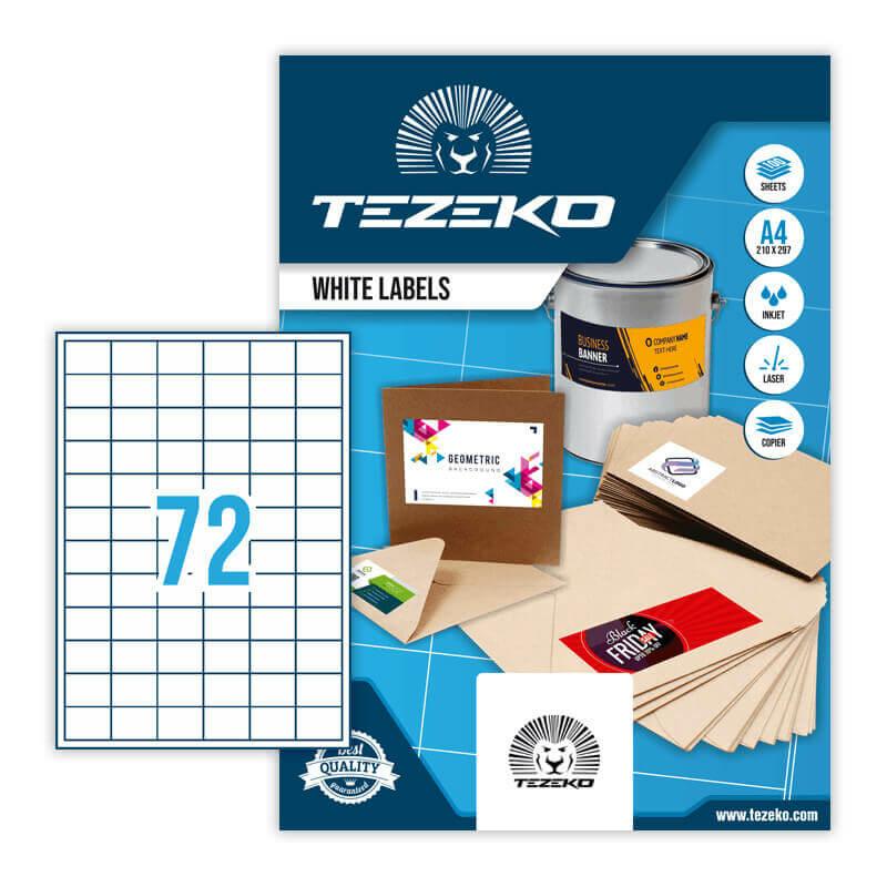 Tezeko öntapadó íves etikett címke TZ-A4-0042