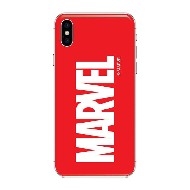 Huawei P Smart 2019 mobiltelefon tok - Marvel Logo Piros
